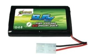 picture of an airsoft battery which is 9.6 volt, 8 cell for airsoft aeg or electric guns