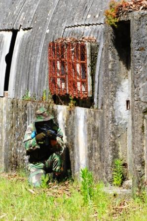 Photo of Airsoft Bunker side building with sniper waiting