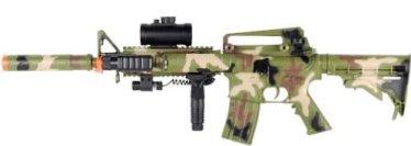 Image photo of an airsoft machine gun camouflage called M83 Camo Airsoft Gun Auto Electric Machine Gun